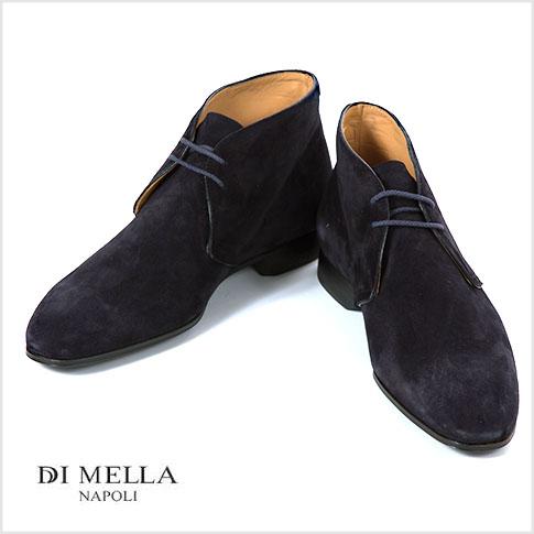 【在庫一点セール】【秋冬OUTLET】【DI MELLA ディメッラ】スエードチャッカブーツ 1069 BLUE ネイビー イタリア靴/SUEDE11