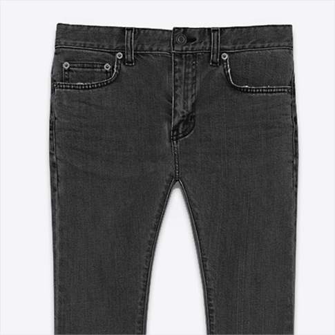 Saint Laurent Paris /SAINT LAURENT PARIS / stretch jeans / HEDI SLIMANE Edith Lyman / black vintage processing denim Super Skinny (15.5 cm) stretch denim 390001Y881I1084 P08Apr16