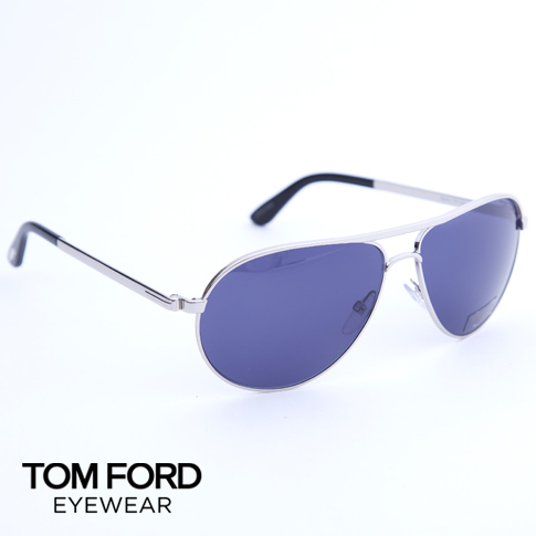 Tom Ford /Tom Ford EYEWEAR sunglasses / glasses Marko / Marco TF144 (FT0144) 18V (shiny Silver/Blue) P08Apr16