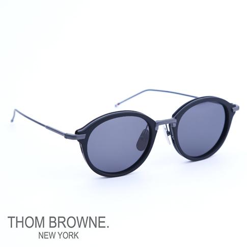 【数量限定入荷】トムブラウン メガネ THOM BROWNE. NEW YORK EYEWEAR トムブラウン サングラス[tb-011-e-t 49size MATTE-BLACK_BLACK IRON METAL/D.GREY-AR]tb-011-e-t-T-BLK-BLK-49-Z