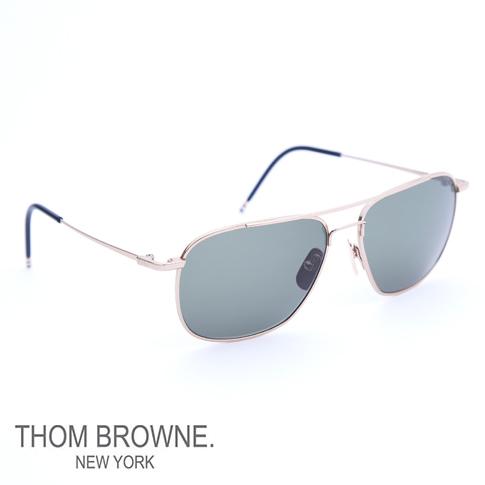 ea15d496b39a Thom glasses THOM BROWNE. NEW YORK EYEWEAR (Thom York) sunglasses  METAL of  the GOLD of 12 K tb-103-a-gold 58size BRIDGE TEMPLES D.GREY-AR  ...