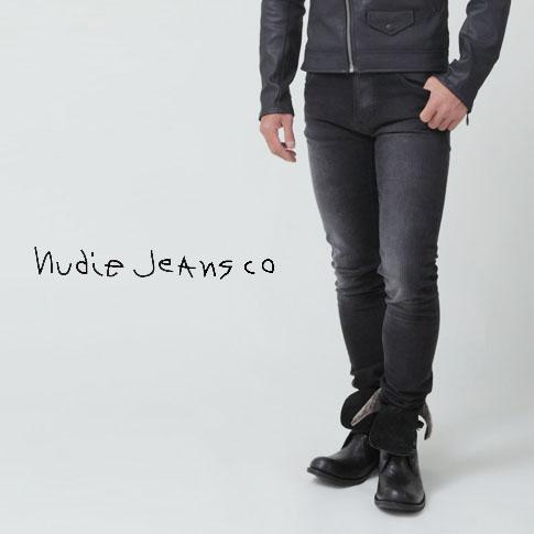 【2020半期決算セール】【秋冬OUTLET】ヌーディージーンズ Nudie Jeans スキニージーンズ デニム Lean Dean リーンディーン ブラック加工デニム BLACK CHANGES 42161-1314-547 ブラックステッチ