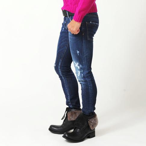 Dsquared and DSQUARED2 dsquared jeans / CLEMENT JEAN / stretch damage process / & repair processing (Detroit denim) skinny jeans S 74 LB0019 P08Apr16