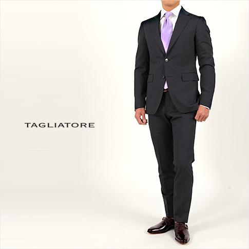 【レアな52サイズあり!!】タリアトーレ/TAGLIATORE【タリアトーレ スーツ】【TAGLIATORE スーツ】シングル 2つボタンスーツ VESVIO(ヴェスビオ)Dorp7 ネイビーウールストレッチ 2SVS22B01 12UPZ185