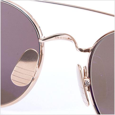 b3536d88bf6 Thom glasses THOM BROWNE. NEW YORK EYEWEAR (Thom York) sunglasses  TB-101 B  12kGOLD 49size SHINY 12 K GOLD W DARK GREY-AR  TB-101-B-T-GLD-49 P08Apr16