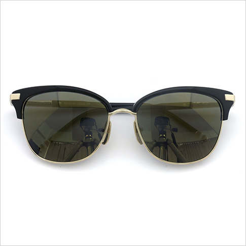 톰 브라운 안경 THOM BROWNE. NEW YORK EYEWEAR (톰 브라운 뉴욕) 안경 선글라스 [TB-505-A BLK-12kGLD 56size BLACK-12K GOLD W/D.GREY-GOLD FLASH-AR] TB-505-A-BLK-GLD-56 P08Apr16