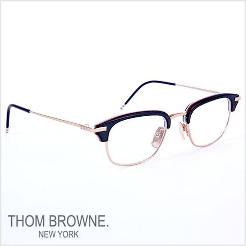 e6b14a1adbb9 Thom glasses THOM BROWNE. NEW YORK EYEWEAR (Thom York) glasses  the TB-707-A-BLK-GLD  50size MATTE BLACK-RWB-SHINY 12 K GOLD W CLEAR  TB-707-A-BLK-GLD-50 ...