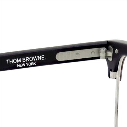 Thom glasses THOM BROWNE. NEW YORK EYEWEAR (Thom York) glasses [TB-709-A BLK-SLV 51size MatteBlack-SILVER METAL] TB-709-A BLK-SLV-51 P08Apr16