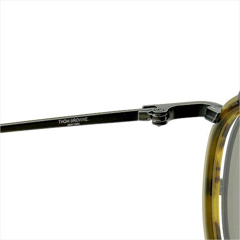 톰 브라운 안경 THOM BROWNE. NEW YORK EYEWEAR (톰 브라운 뉴욕) 신작 안경 + 클립 온 선글라스 [TB-710-A 46size BLK-WLT] BLACK IRON-WALNUT P08Apr16