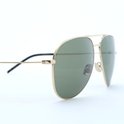 圣洛朗眼镜经典 11 / 洛朗 · 经典 11 飞行员太阳镜 (闪亮黄金及钢 / 绿色镜头) 419695Y99107003