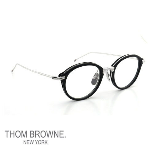 TB-011-H 46size トムブラウン メガネ THOM BROWNE トムブラウン 眼鏡 【ラッピングOK】 トムブラウン メガネ THOM BROWNE. NEW YORK EYEWEAR トムブラウン 眼鏡 [TB-011-H 46size NAVY/SILVER BRIDGE AND TEMPLES]TB-011-H-46
