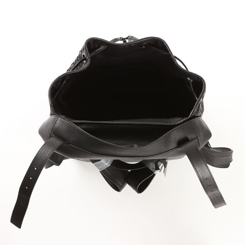 FALORNI ファロルニ 배낭 백팩 용 차트 램 레더 블랙 866 가방/기타
