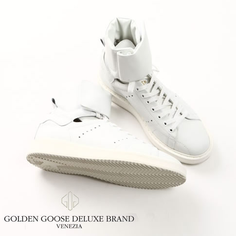 GOLDEN GOOSE / ゴールデングース ハイカット スニーカーHI.STARTER SNEAKERS IN CALF LEATHER STARTER WHITE g29ms102-a1