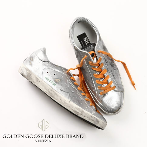 GOLDEN GOOSE ゴールデングース スーパースター スニーカー SUPER STAR LIMITED EDITION SNEAKERS IN LEATHER WITH LEATHER STAR g29ms590-sil