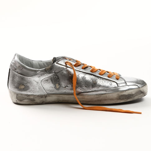 GOLDEN GOOSE 고르젱스스파스타스니카 SUPER STAR LIMITED EDITION SNEAKERS IN LEATHER WITH LEATHER STAR g29ms590-sil