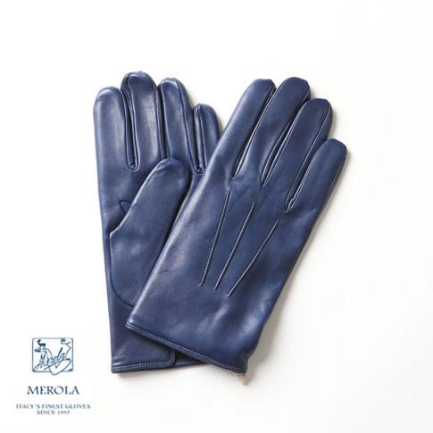 【2020半期決算セール】メローラ / MEROLA GLOVES【メローラ 手袋】【国内正規別注品】新作限定メローラ グローブ ラムナッパxカシミアライナー オイルフィニッシュ加工 ハンドメイド手袋 me729002-81 コバルトブルー
