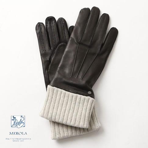 【全品ポイント還元中】メローラ / MEROLA GLOVES メローラ グローブ / メローラ 手袋【国内正規別注品】メローラ グローブ ラムナッパxカシミアライナー ロングデザイン ハンドメイド手袋 me629004-99 NERO/ブラック