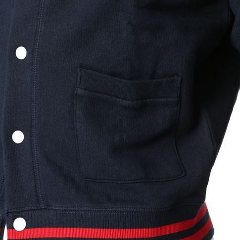 MAISON KITSUNE meson Kitsune Teddy jacket Mt Fuji Teddy jacket Navy mk-m735