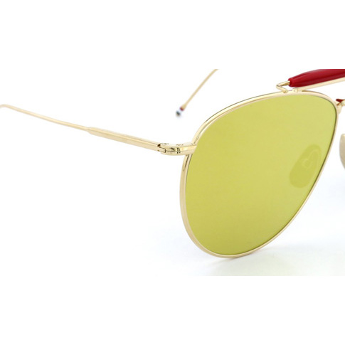 d1bee3c36152 amalfi  Thom glasses THOM BROWNE sunglasses Dark-Brown-Gold-Mirror ...