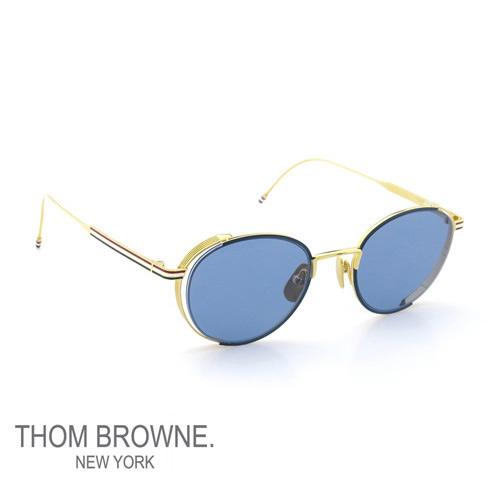 ebb11fc1c8 Tom Browne glasses THOM BROWNE Tom Browne sunglasses navy enamel 18k gold  w dark blue EYEWEAR tb-106-c