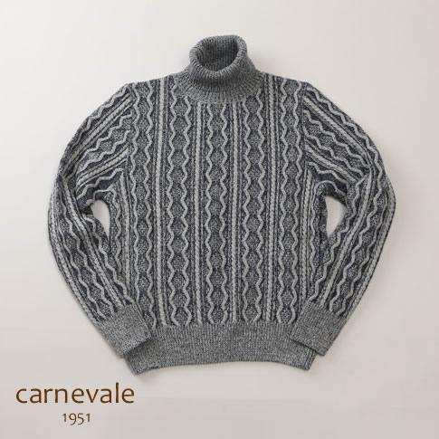 【秋冬OUTLET】CARNEVALE カルネヴァーレ タートルネックセーター ネイビー ca723006-80