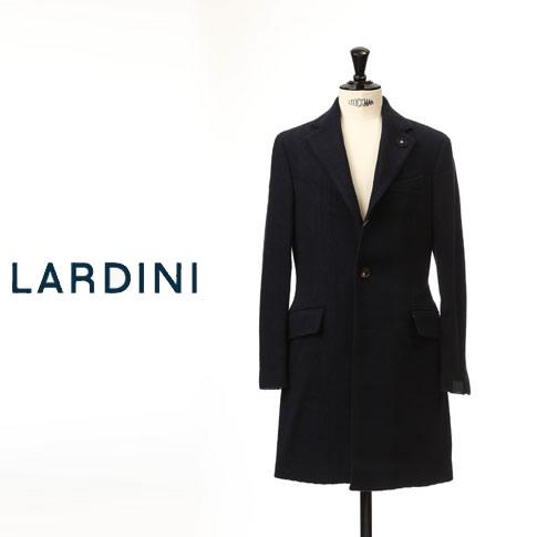 【スーパーバリュー】【秋冬OUTLET】ラルディーニ LARDINI ラルディーニ ウール コート ネイビー iec49603-01