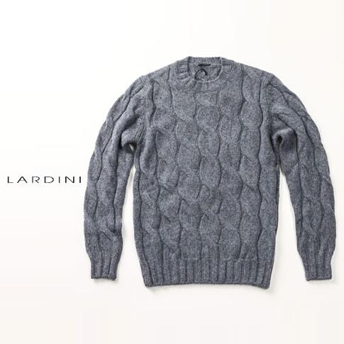 【秋冬OUTLET】ラルディーニ LARDINI ラルディーニ ニット クルーネック セーター ブルーグレーメランジ mml51-ie49046-830