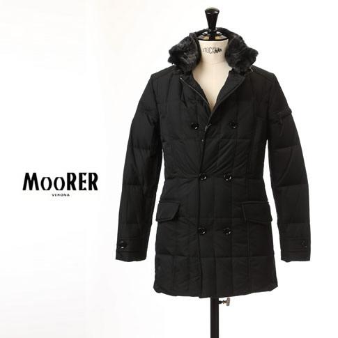 国内正規品 moorer morris MOORER / ムーレー メンズ ダブルブレスト セミロングダウンジャケット MORRIS KM モーリス NERO / ブラック 212-61129-08