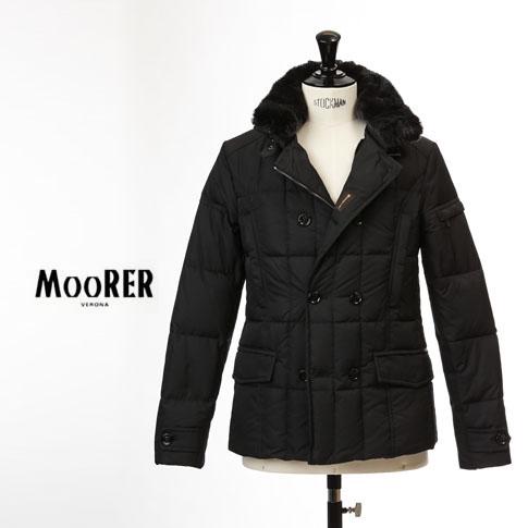 【国内正規品】MOORER SIRO / ムーレー メンズ ダブルブレスト ダウンジャケット SIRO KM2 シロ NERO / ブラック
