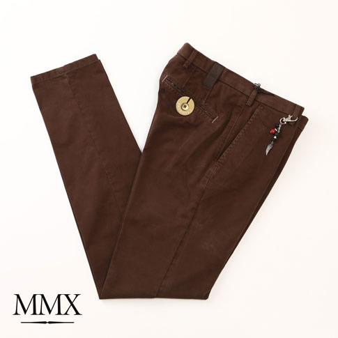 【秋冬OUTLET】MMX コットン パンツ ブラウン mx726005-70