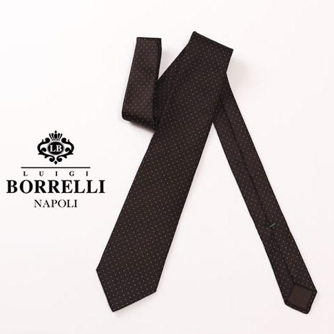 【秋冬OUTLET】Luigi Borrelli ルイジ ボレッリ ネクタイ ダークブラウン シルク100% nr85-t4105-02