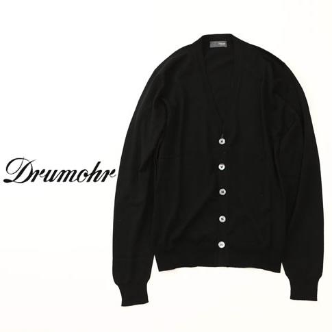 【国内正規品】DRUMOHR ドルモア ハイゲージニット カーディガン ブラック qw-dod109-690