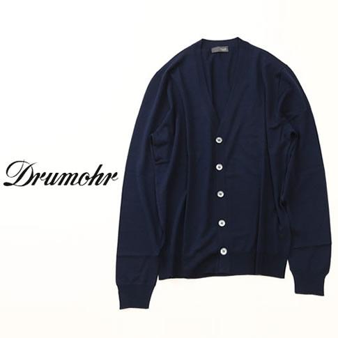 【国内正規品】DRUMOHR ドルモア ハイゲージニット カーディガン ネイビー qw-dod109-780
