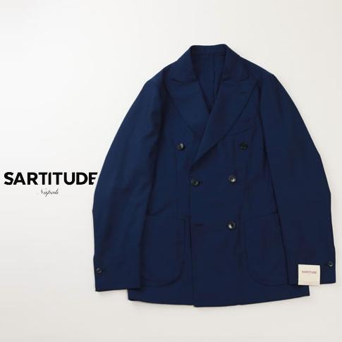 【在庫一点セール】【秋冬OUTLET】SARTITUDE サルティテュード ダブルジャケット ネイビー sa725001-80