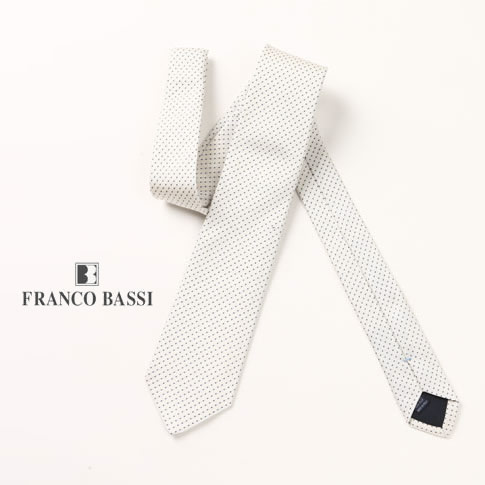 FRANCO BASSI / フランコバッシ ネクタイ ドット柄 ホワイト u16i-c909-7