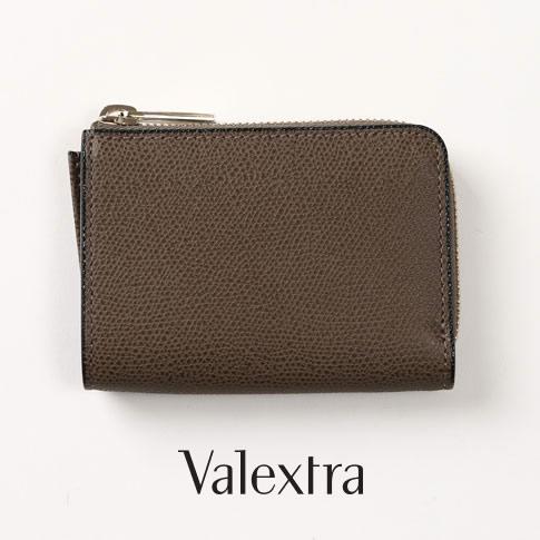 Valextra ヴァレクストラ 超歓迎された コインケース argilla 人気商品 グレーブラウン