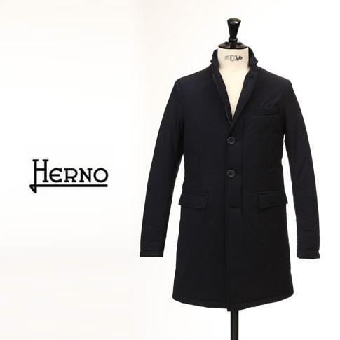 【特別価格】【秋冬】HERNO ヘルノ メンズ サーモストレッチ 中綿入り チェスターコート ネイビー Thermo Strech IM0162U 9200