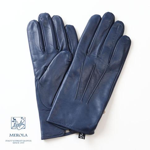 メローラ / MEROLA GLOVES【メローラ 手袋】【国内正規別注品】新作限定メローラ グローブ ラムナッパxカシミアライナー オイルフィニッシュ加工 ハンドメイド手袋 ME729001-81 コバルトブルー