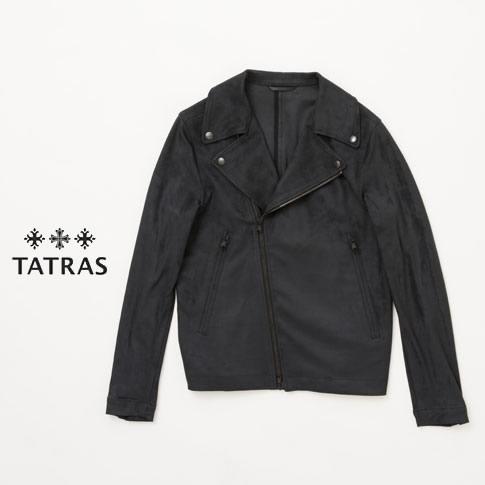 タトラス メンズ TATRAS メンズ LATINO ダブルライダース ジャケット mta18a4520 ブラック