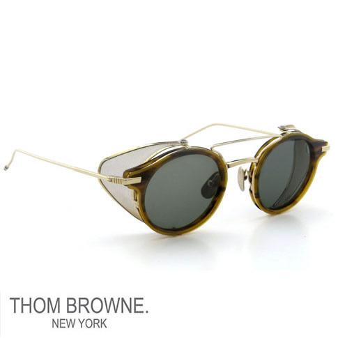 【全品送料無料】【超レアモデルレアカラー入荷】トムブラウン メガネ THOM BROWNE. NEW YORK EYEWEAR(トムブラウン ニューヨーク)サングラス[TB-804 Walnut x 12K Gold METAL]TB-804-A-WLT-GLD-45-Z