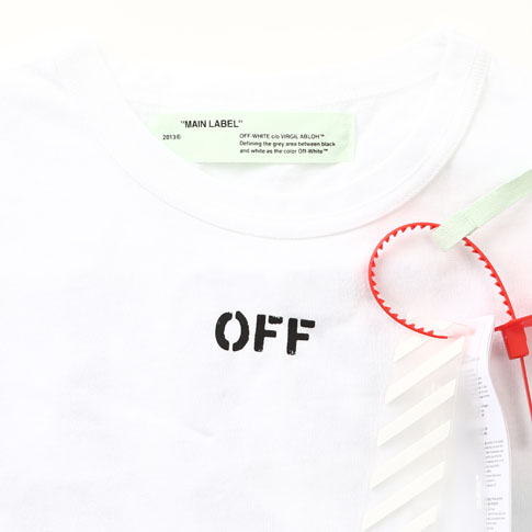 Off-White off-white DIAG SPRAY S/S TEE die chin null spray T-shirt white OMAA002S171850130110