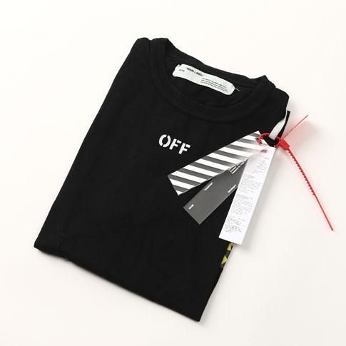 Off-White off-white DIAG SPRAY S/S TEE 다이아고나르스프레이 T셔츠 블랙 OMAA002S171850131001