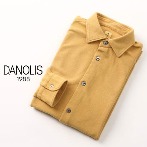 【2020半期決算セール】DANOLIS/ダノリス スペシャルウォッシュド加工 長袖 台衿付き 鹿の子 ポロシャツ ヨーク・イエロー 全4色 B3013367-785