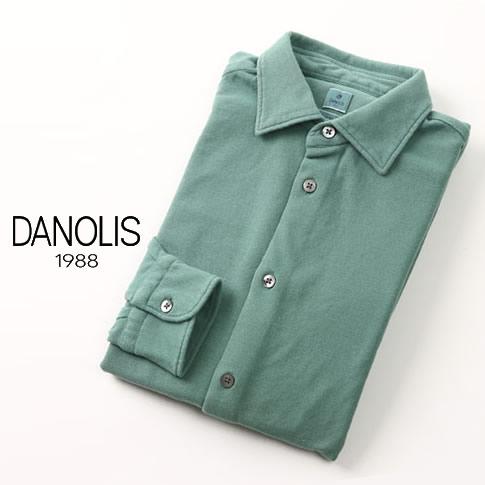 【2020半期決算セール】DANOLIS/ダノリス スペシャルウォッシュド加工 長袖 台衿付き 鹿の子 ポロシャツ ゴーディ・グリーン 全4色 B3013367-786