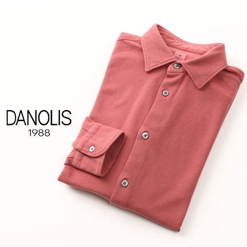 【全品送料無料】DANOLIS/ダノリス スペシャルウォッシュド加工 長袖 台衿付き 鹿の子 ポロシャツ カーディナル・レッド 全4色 B3013367-788