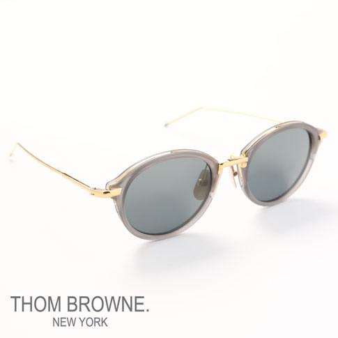 【全品送料無料】トムブラウン メガネ THOM BROWNE. NEW YORK EYEWEARトムブラウン サングラス[TB-011-G-T-GRY-GLD-46]TB-011