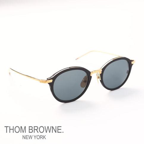 c06f609582 Tom Browne glasses THOM BROWNE. NEW YORK EYEWEAR (Tom Browne New York)  sunglasses  TB-110-A-T-BLK-GLD-48 TB-110