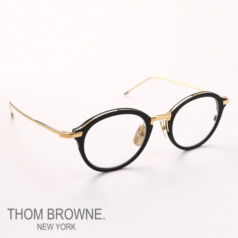 Tom Browne glasses THOM BROWNE. NEW YORK EYEWEAR (Tom Browne New York) glasses [TB-110-A-BLK-GLD-48size]TB-110