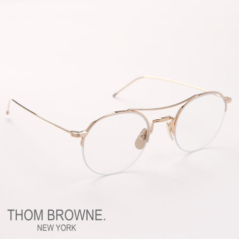 0395827854d0 Tom Browne glasses THOM BROWNE. NEW YORK EYEWEAR (Tom Browne New York)  glasses  TB-903-A 12kGLD 49size TB-903 2017 new work in the spring and  summer