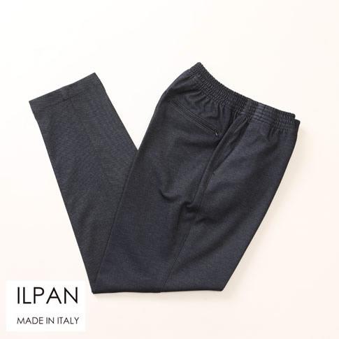 ILPAN イルパン メンズ 1プリーツテーパードジャージーPT チャコールグレー bari-kant-502